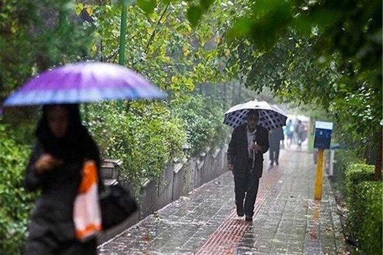 پیش بینی باران و کاهش 8 درجه ای دما در 20 استان ، باران 7 روزه در اکثر مناطق کشور