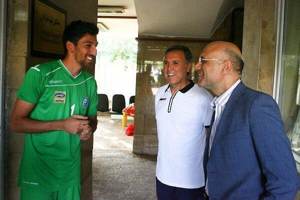 حضور امیرحسین فتحی در اردوی تیم فوتبال استقلال