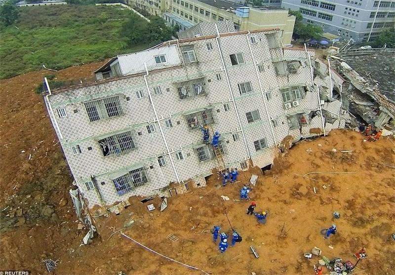تصاویر هولناک از رانش زمین در شهرک شنزن چین