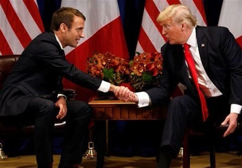 گفتگوی ترامپ و ماکرون درباره تنش های تجاری بین دو کشور