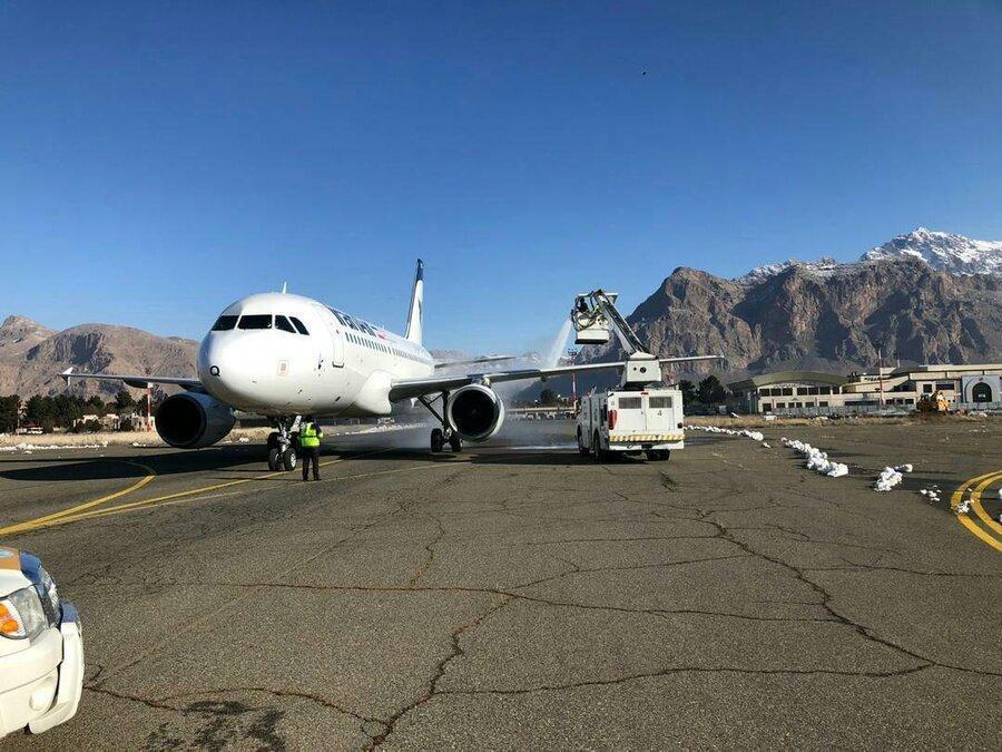 فیلم ، سرنوشت هواپیمای ایران ایر که از باند خارج شده بود