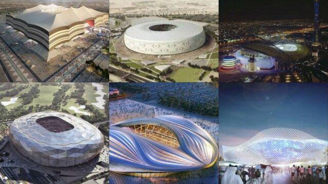 آماده شدن نیمی از استادیوم های قطر برای جام جهانی 2022