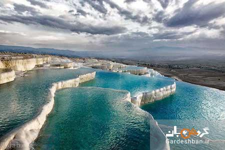 پاموکاله؛منطقه ای یخی و حیرت انگیز در ترکیه، عکس