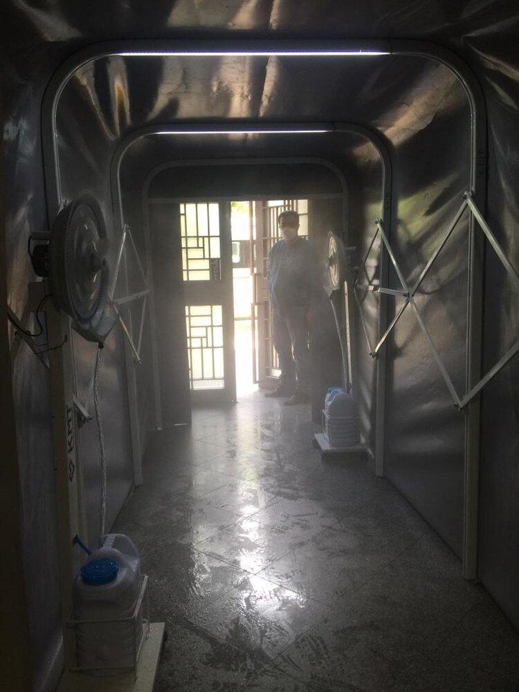 ساخت تونل ضدعفونی کننده در یک شرکت دانش بنیان
