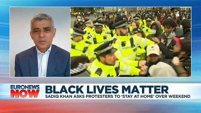شهردار لندن: معترضان به نژادپرستی آخر هفته در خانه بمانند