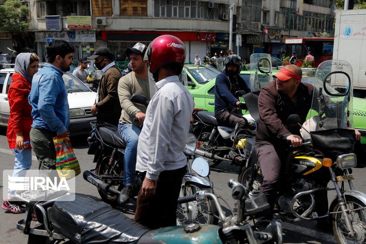 خبرنگاران جولان موتورسواران در روزهای کرونایی پایتخت