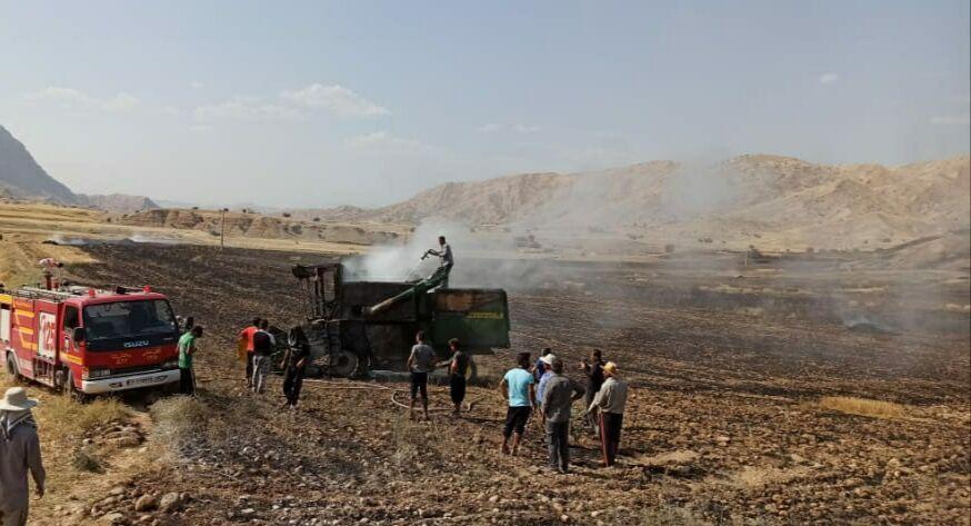 خبرنگاران آتش سوزی پنج میلیارد به کشاورزان ایذه خسارت زد