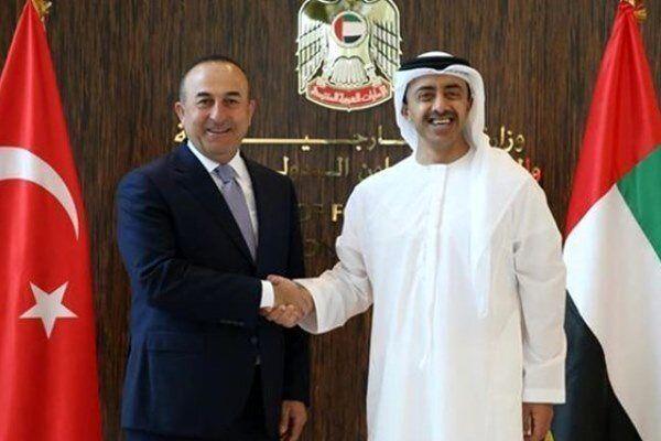 گفتگوی وزیران خارجه ترکیه و امارات بعد از 4سال