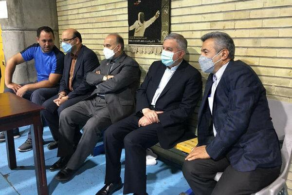 بازدید سلطانی فر و صالحی امیری از اردوی شمشیربازی و کاراته