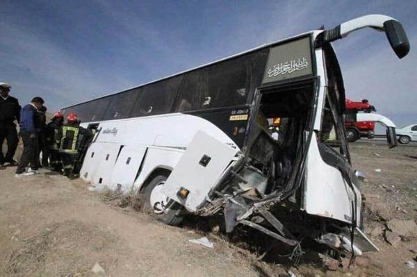 واژگونی اتوبوس حامل خبرنگاران در آذربایجان غربی